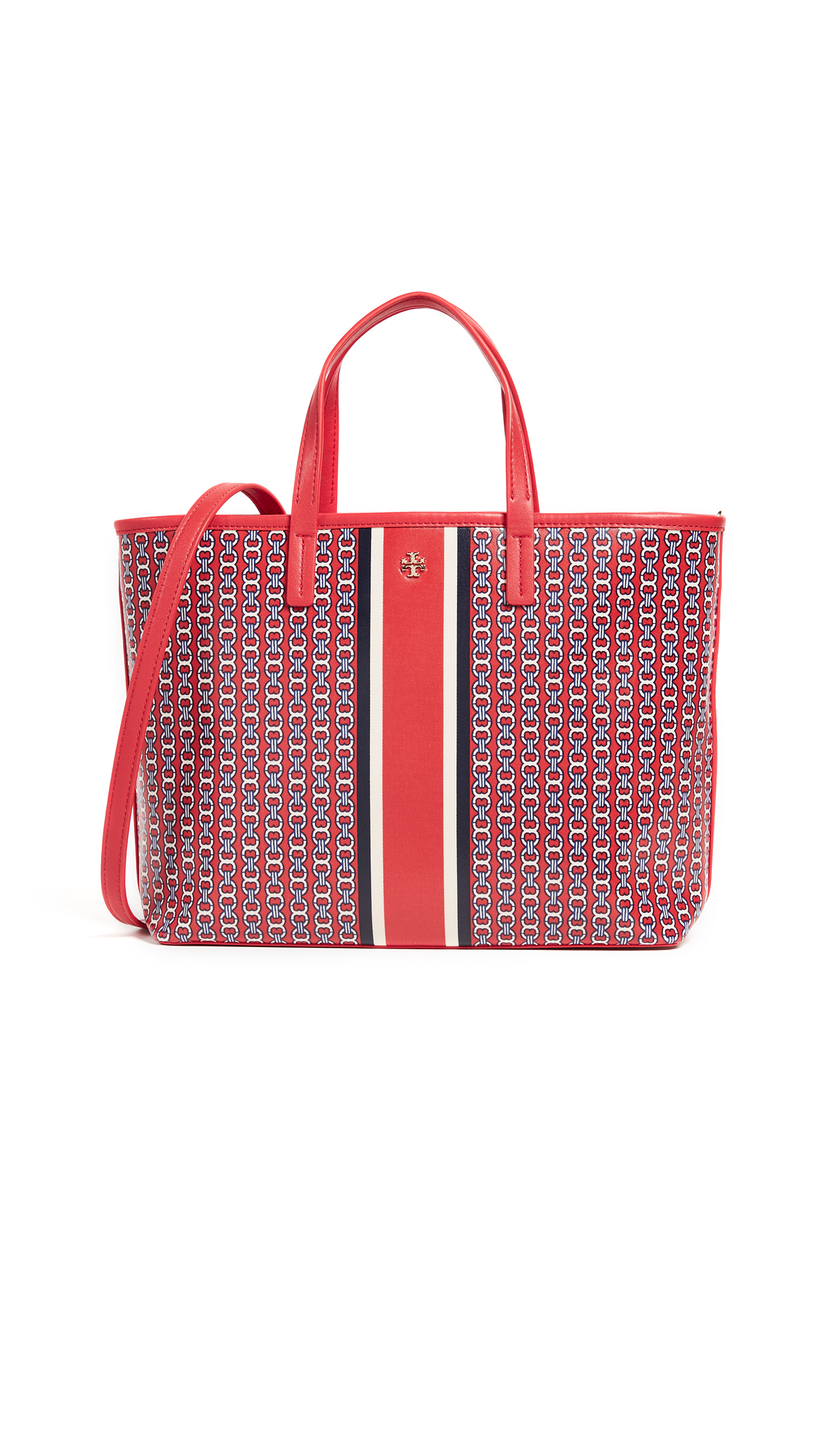 Tory Burch Gemini Link Small Tote - Exotic Red