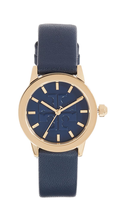 Tory Burch The Gigi Strap Watch, 28mm - Navy/Gold/Navy