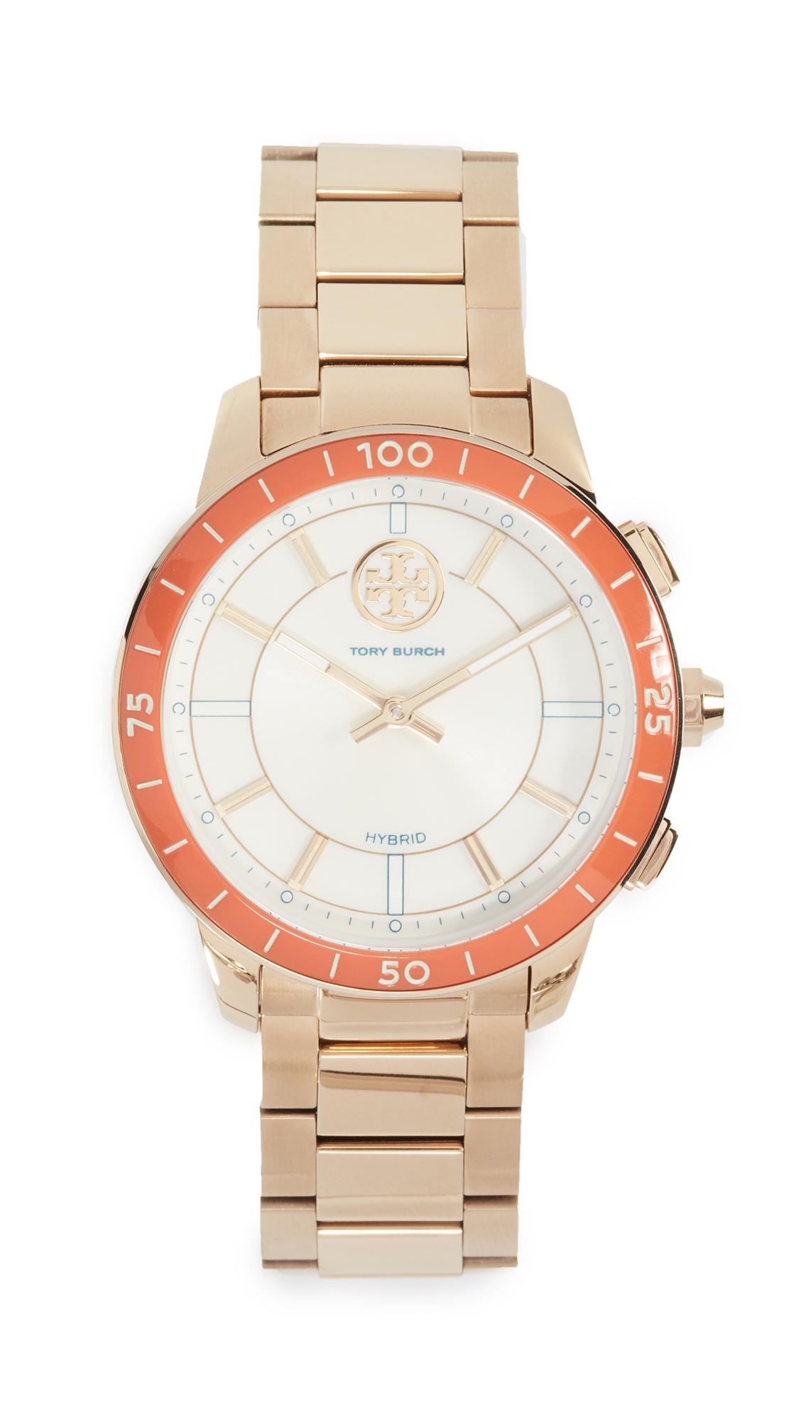 Tory Burch Collins Hybrid Watch, 38MM - Ivory/Gold