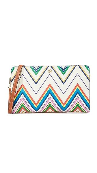 Tory Burch Kerrington Wallet Cross Body Bag - Zigzag Stripe