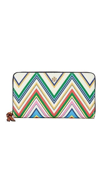 Tory Burch Kerrington Zip Continental Wallet - Zigzag Stripe