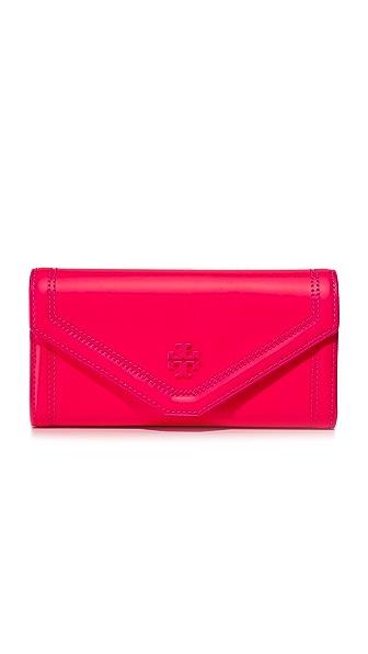 Tory Burch Kira Neon Envelope Continental Wallet - Fluorescent Pink