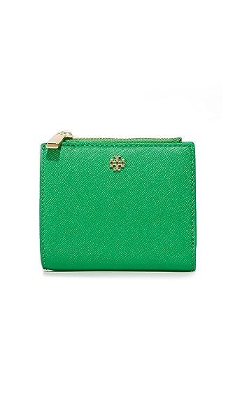 Tory Burch Robinson Mini Wallet - Court Green