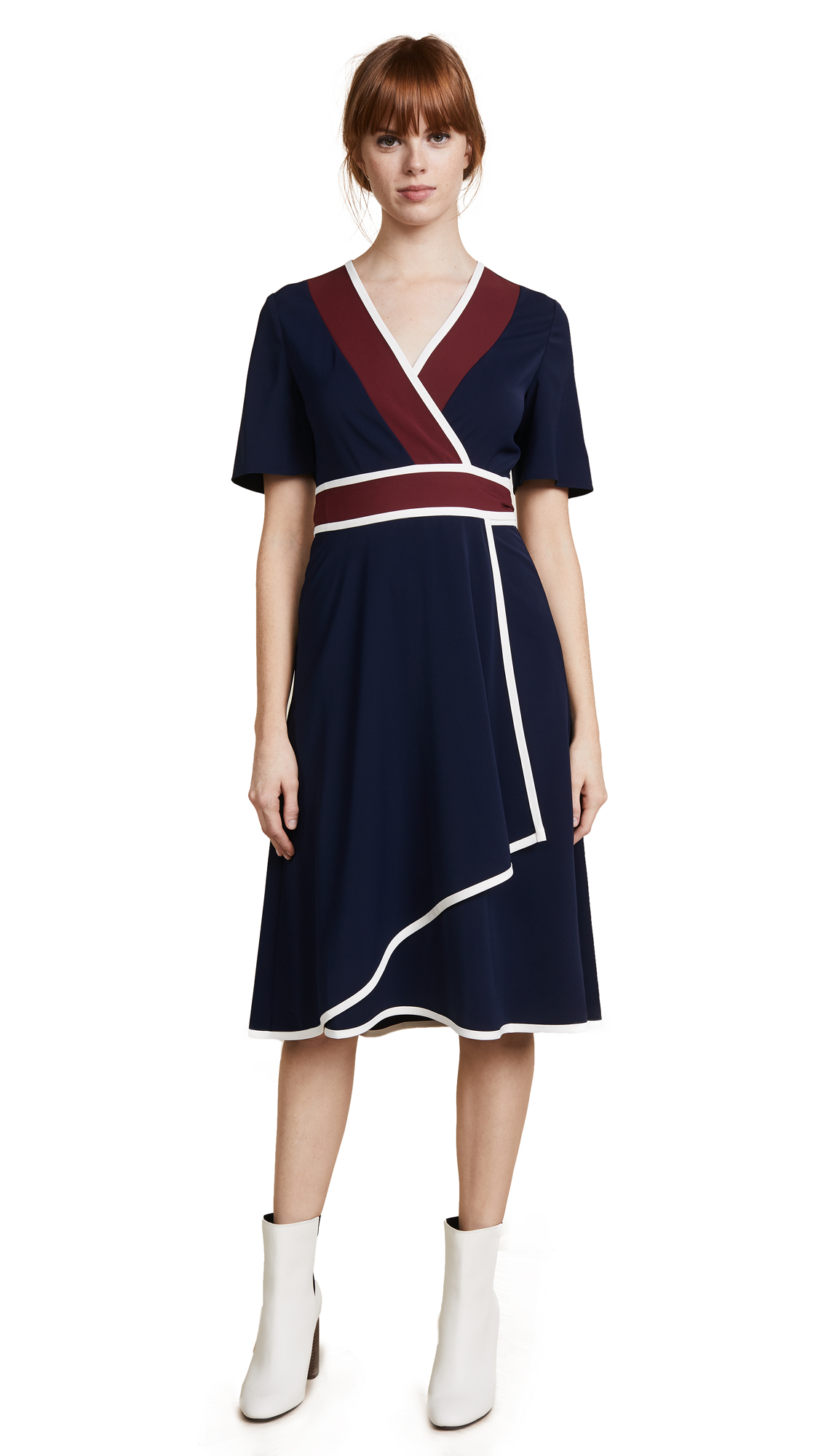 Tory Burch Peggy Wrap Dress - Tory Navy