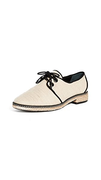 Tory Burch Fawn Oxford Espadrilles In Natural/Black