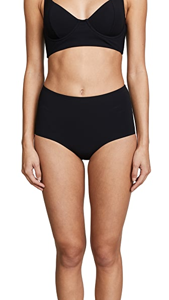 Tory Burch Solid High Waist Bottoms In Black