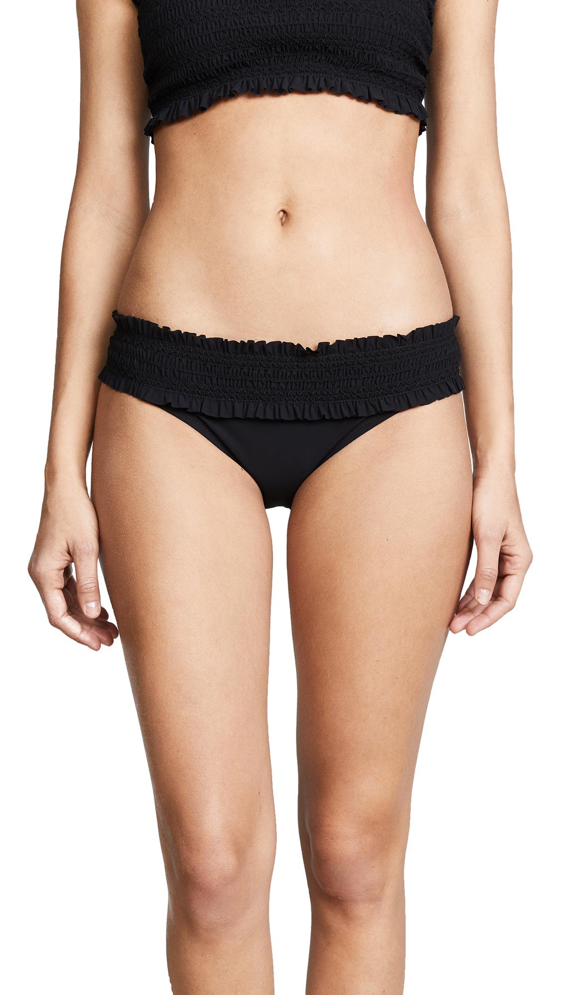 Tory Burch Costa Hipster Bikini Bottoms - Black