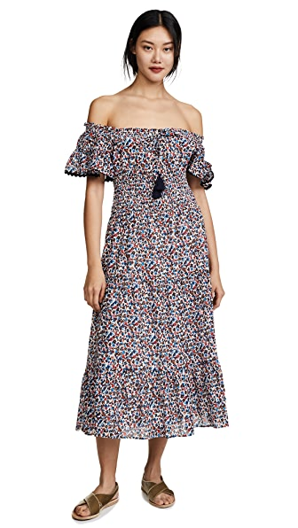 Tory Burch Wildflower Smocked Dress