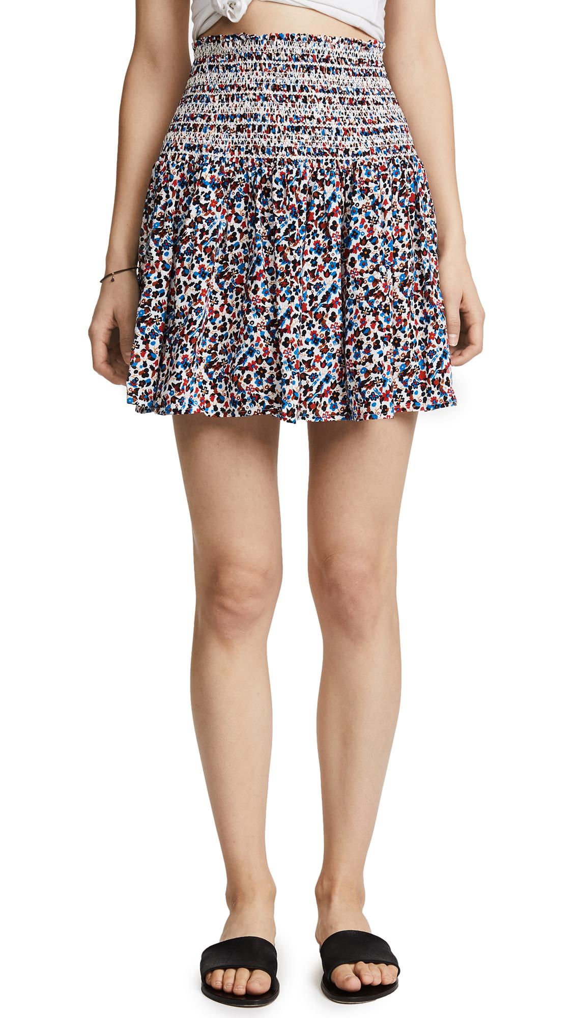 Tory Burch Wildflower Smocked Beach Skirt - Wildflower
