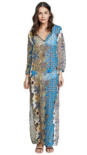 Tory Burch Jasmine Floral Long Caftan In Jasmine Floral Print