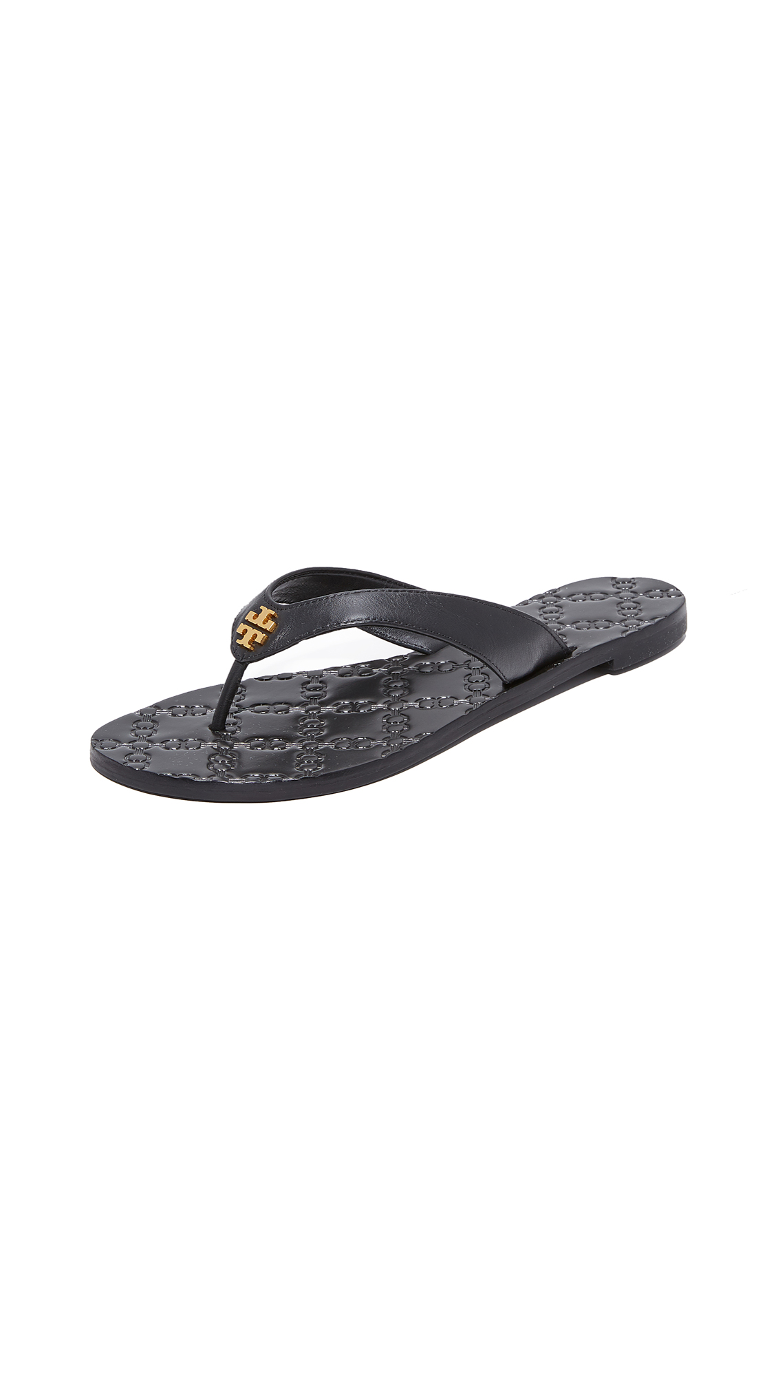 Tory Burch Monroe Thong Sandals - Black