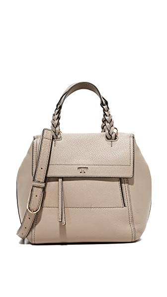Tory Burch Half Moon Small Satchel - French Gray