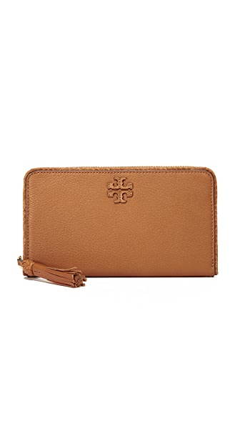 Tory Burch Taylor Zip Continental Wallet - Saddle