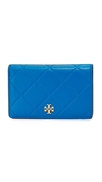 Tory Burch Georgia Slim Medium Wallet - Galleria Blue