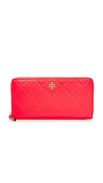 Tory Burch Georgia Zip Continental Wallet - Dahlia Pink