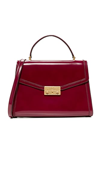 Tory Burch Juliette Top Handle Satchel - Imperial Garnet