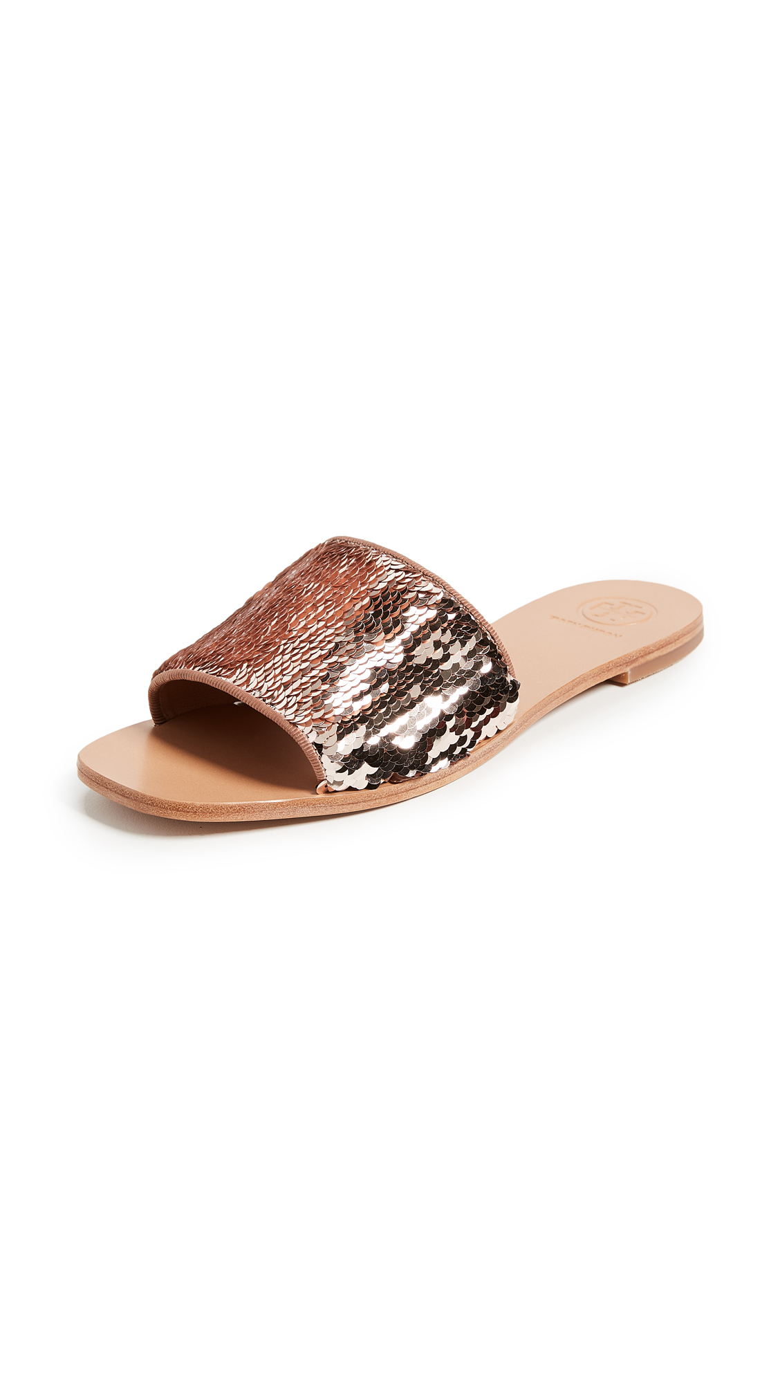 Tory Burch Carter Slides - Perfect Blush/Rose Gold
