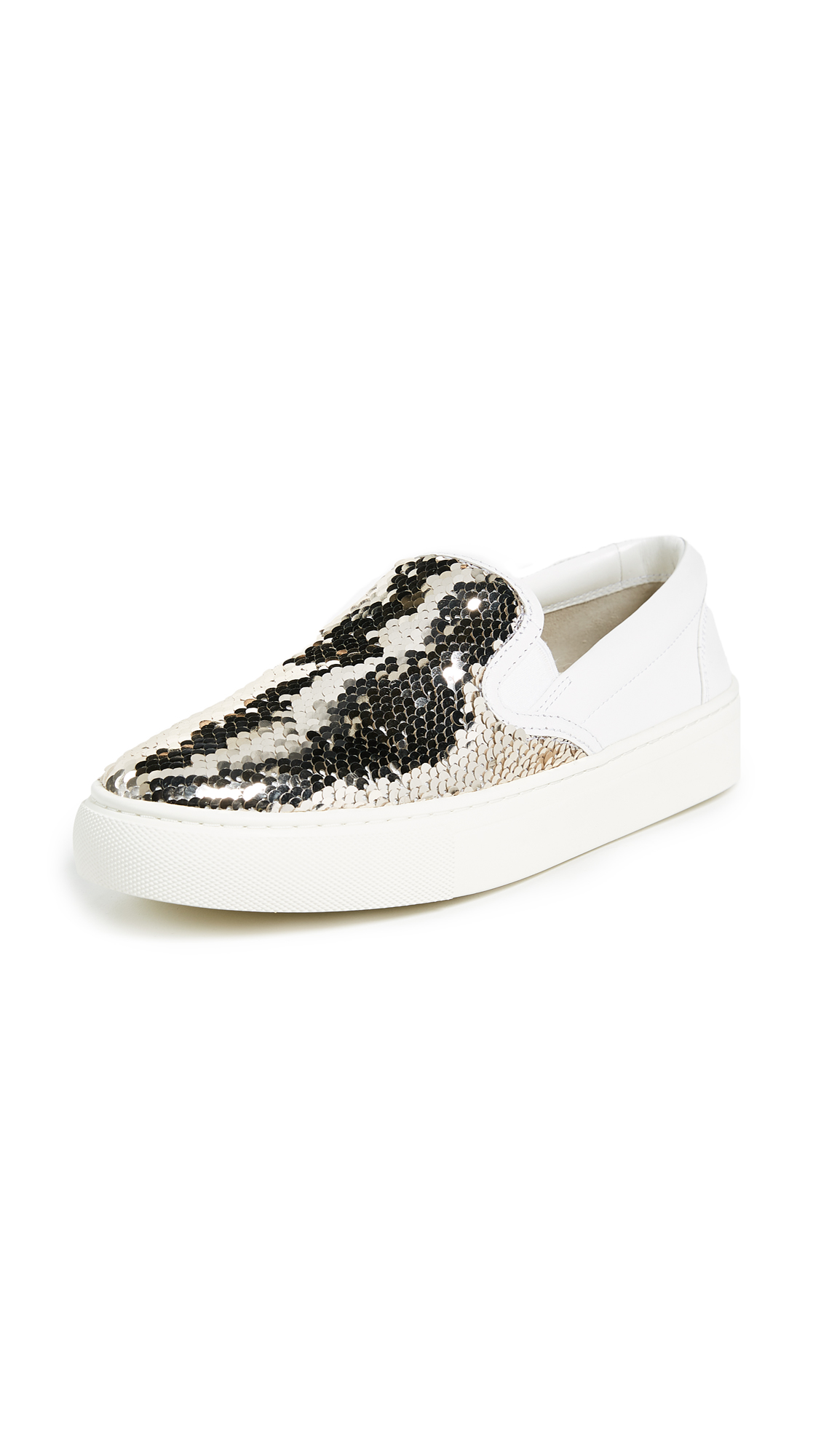 Tory Burch Carter Slip On Sneakers - Spark Gold/White