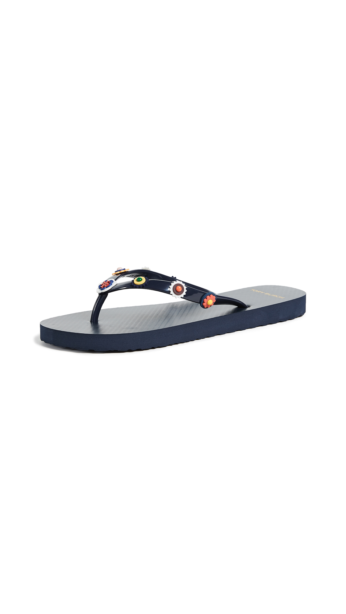 Tory Burch Marguerite 2 Flip Flops - Perfect Navy