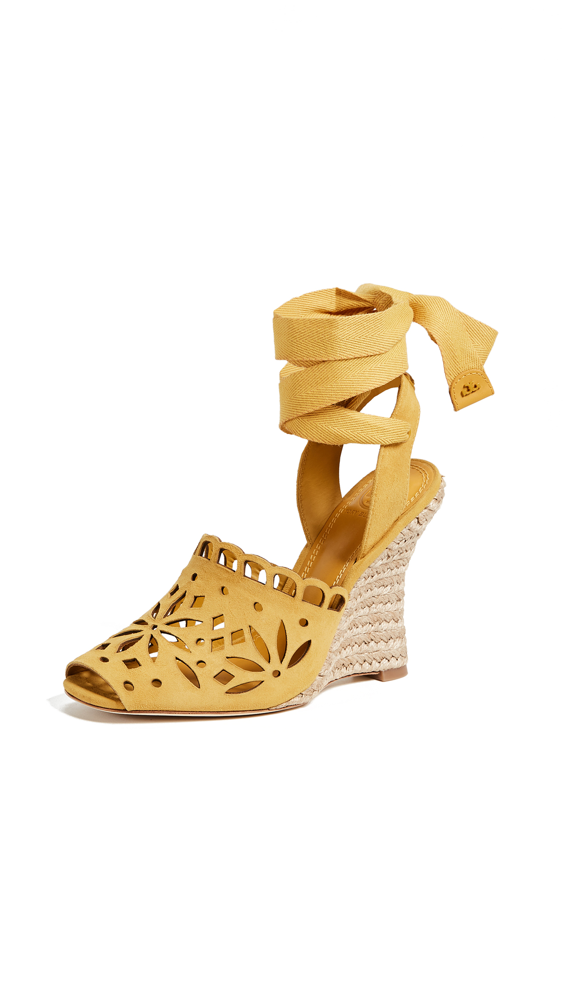 Tory Burch May 110mm Peep Toe Wedge - Dusty Cassia/Dusty Cassia