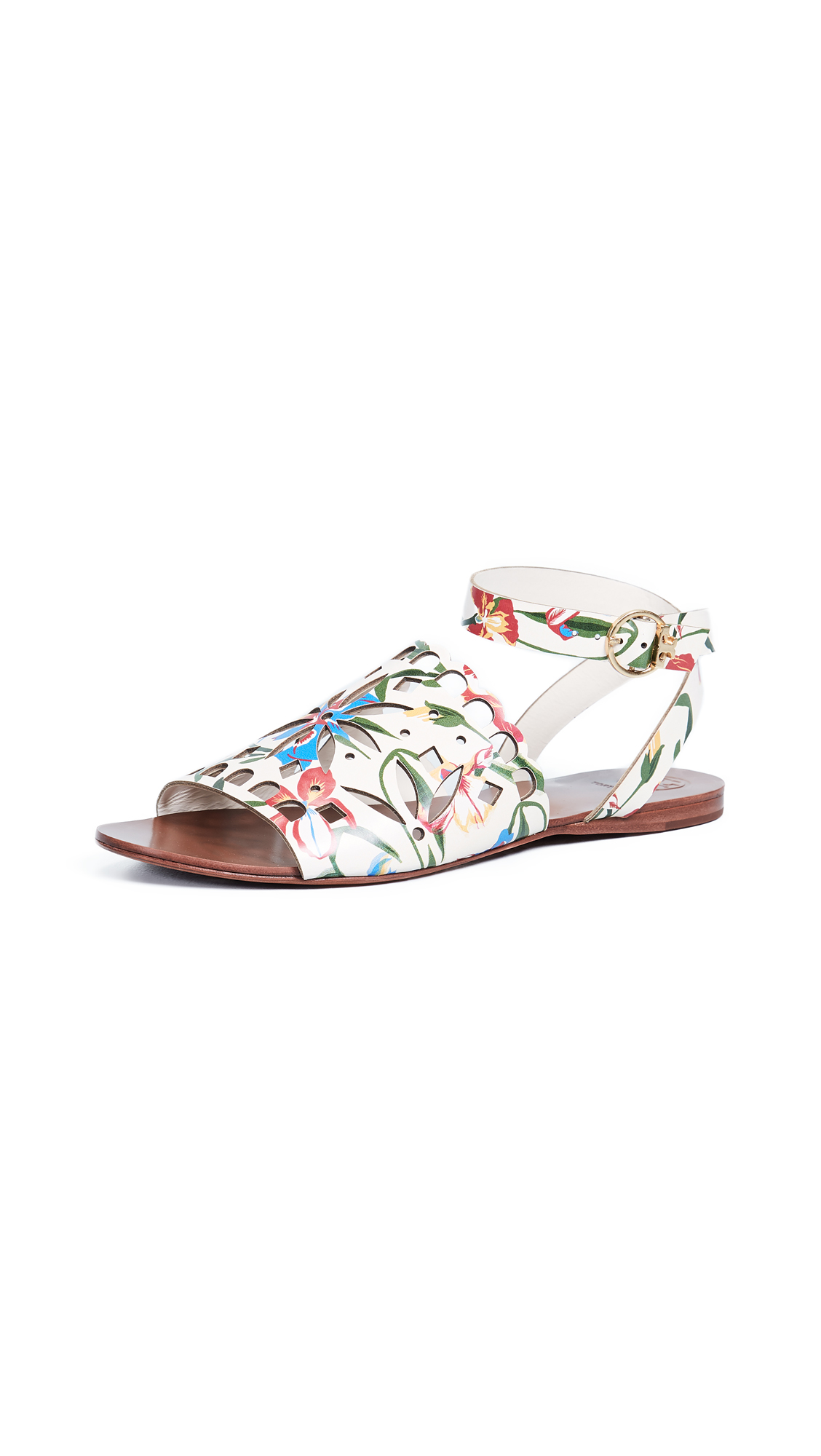Tory Burch May Flat Sandals - Painted Iris