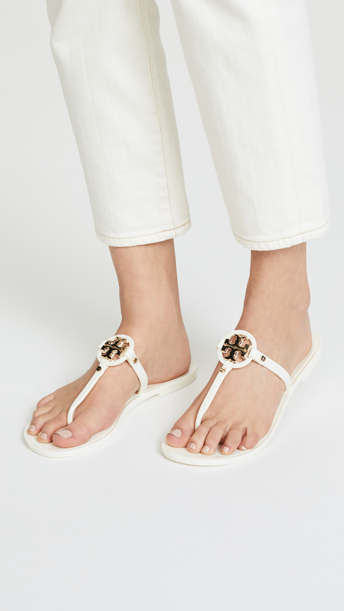 6bb7664261e5 Tory Burch Mini Miller Flip Flops