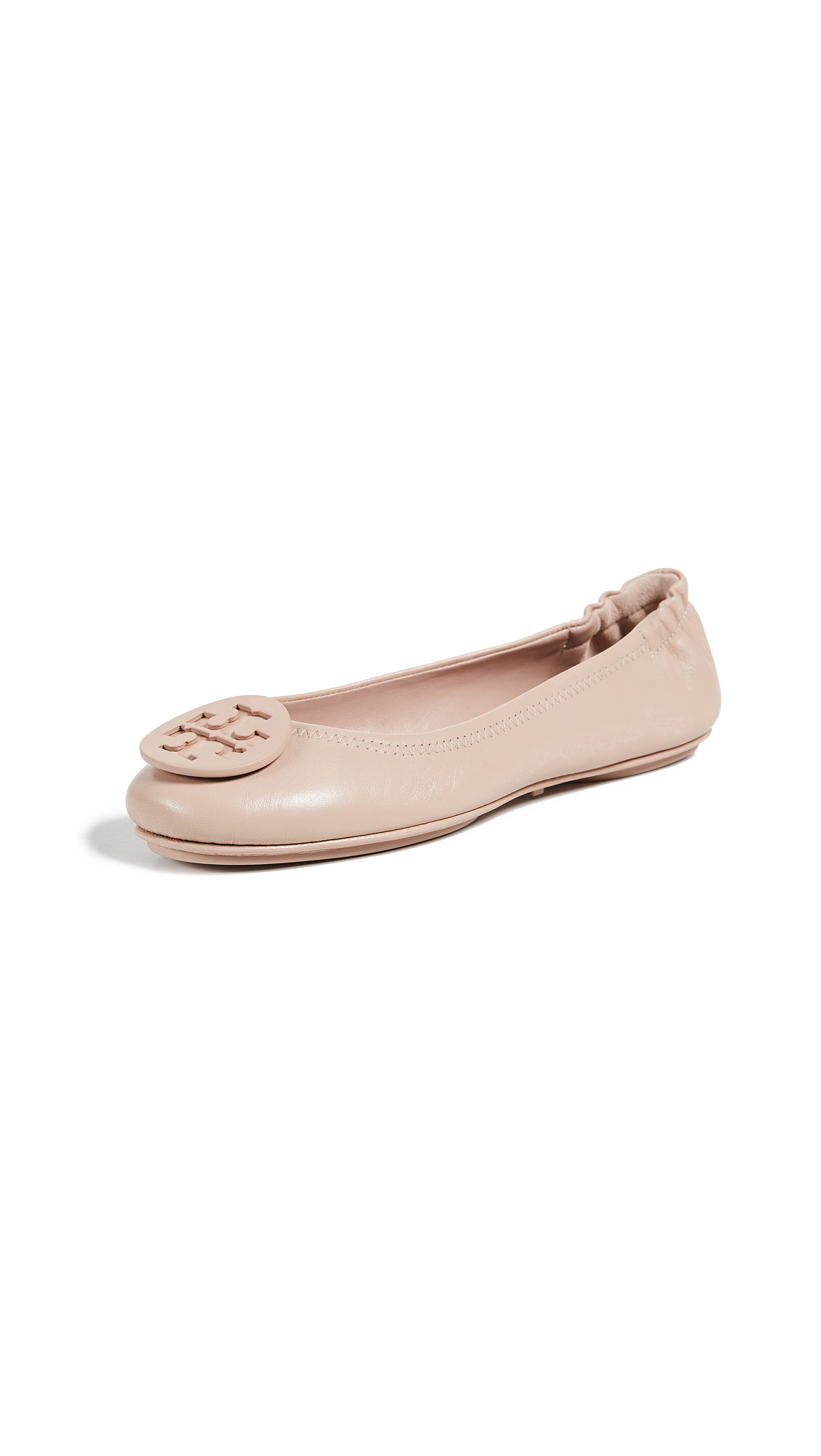 Tory Burch Minnie Travel Ballet Flats - Goan Sand