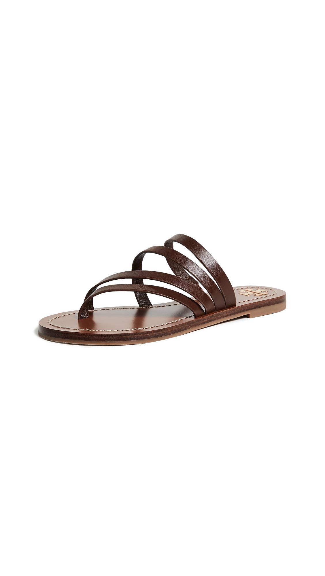 Tory Burch Patos Flat Sandals - Americano