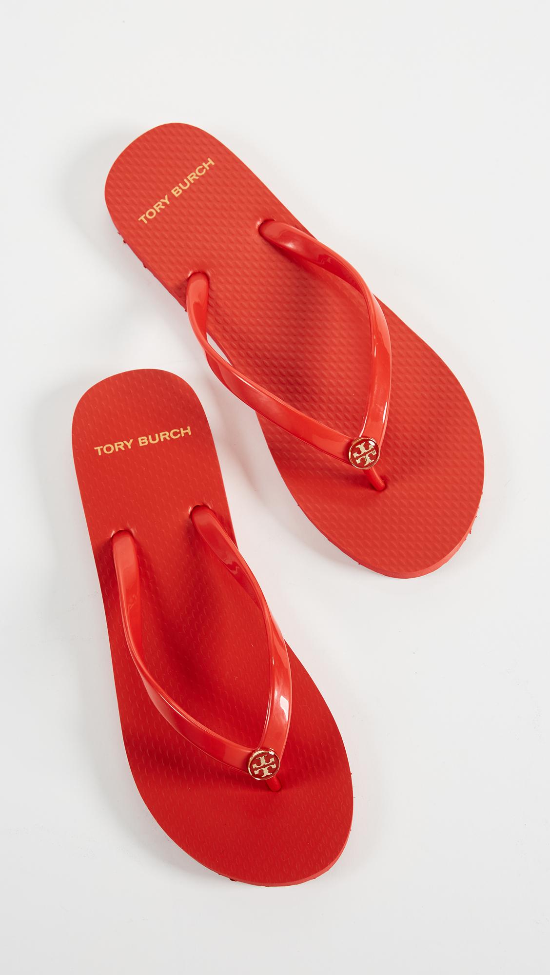 b46edc2e35783d Tory Burch Solid Thin Flip Flops