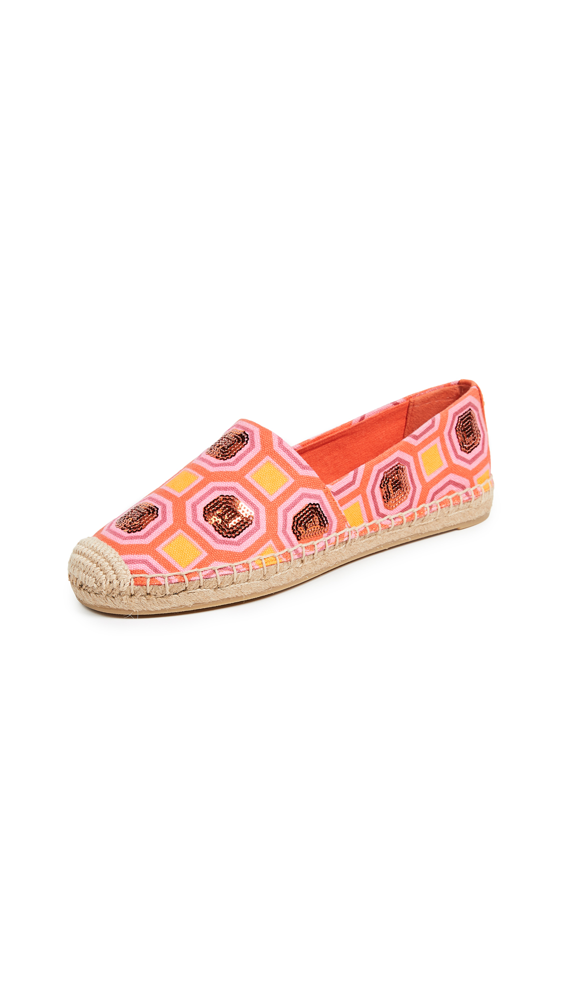 61afbe9c553 Tory Burch Cecily Sequin Embellished Espadrille In Octagon Light Chambray