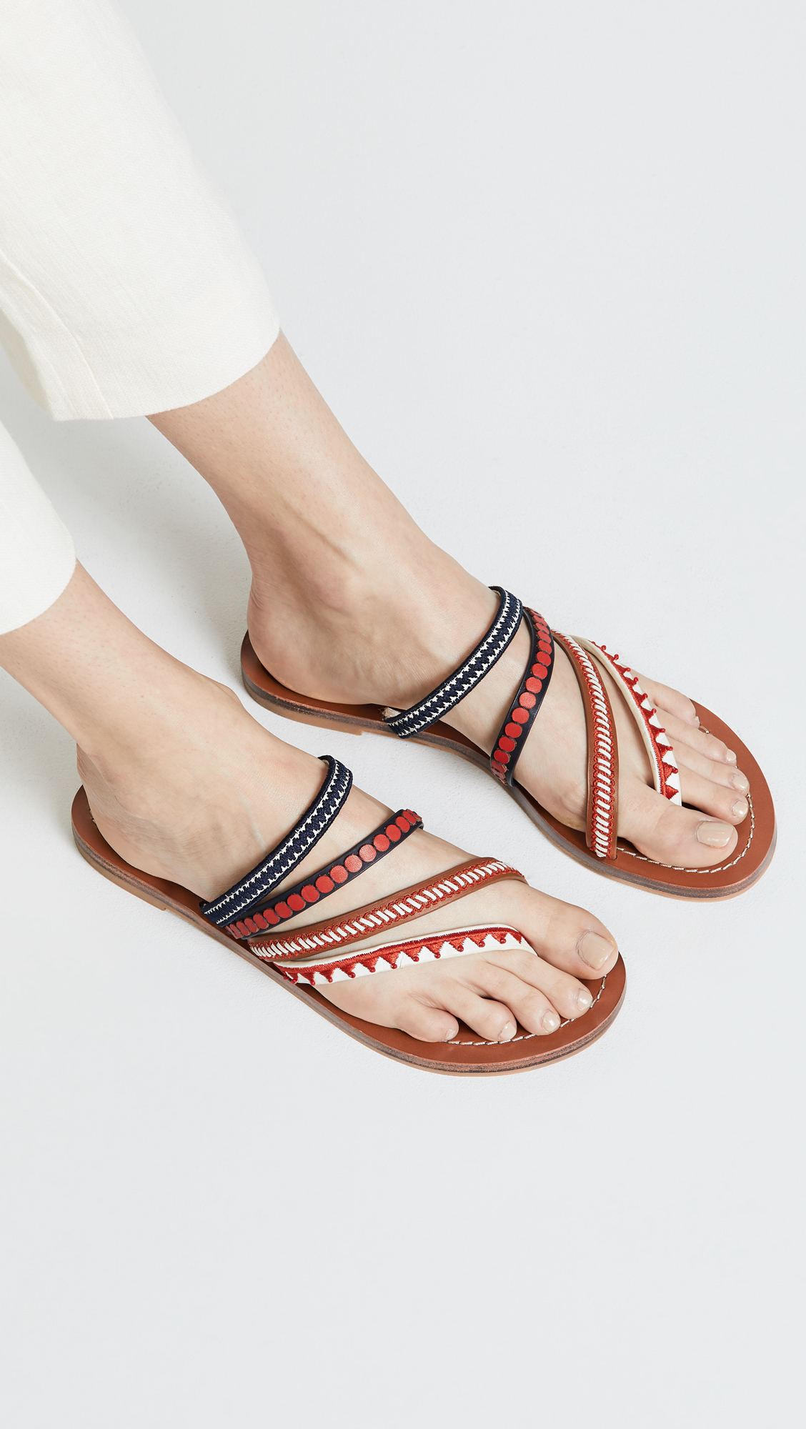 949aac9a656 Tory Burch Patos Embroidered Sandals