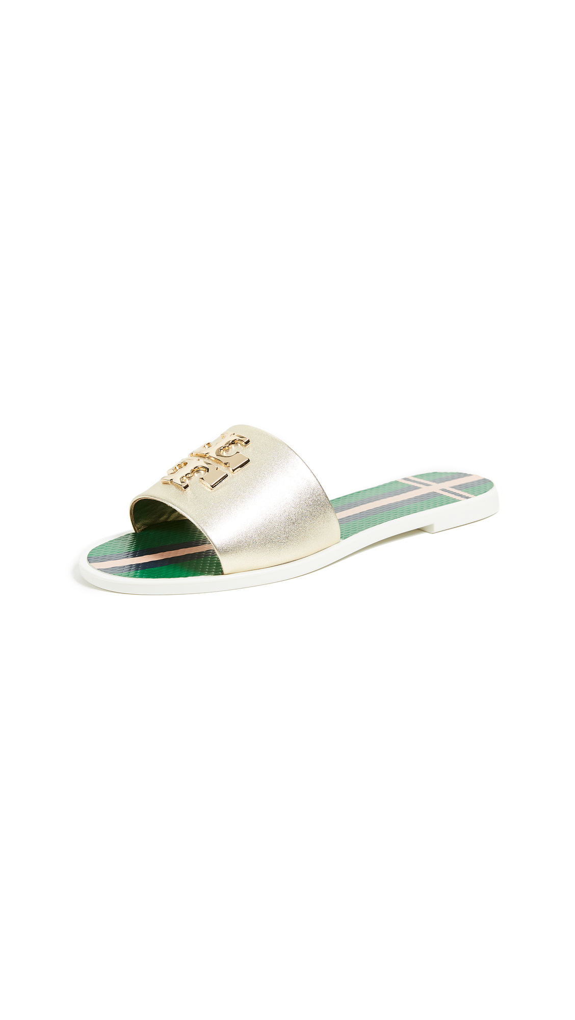 Tory Burch Logo Jelly Slide - Spark Gold