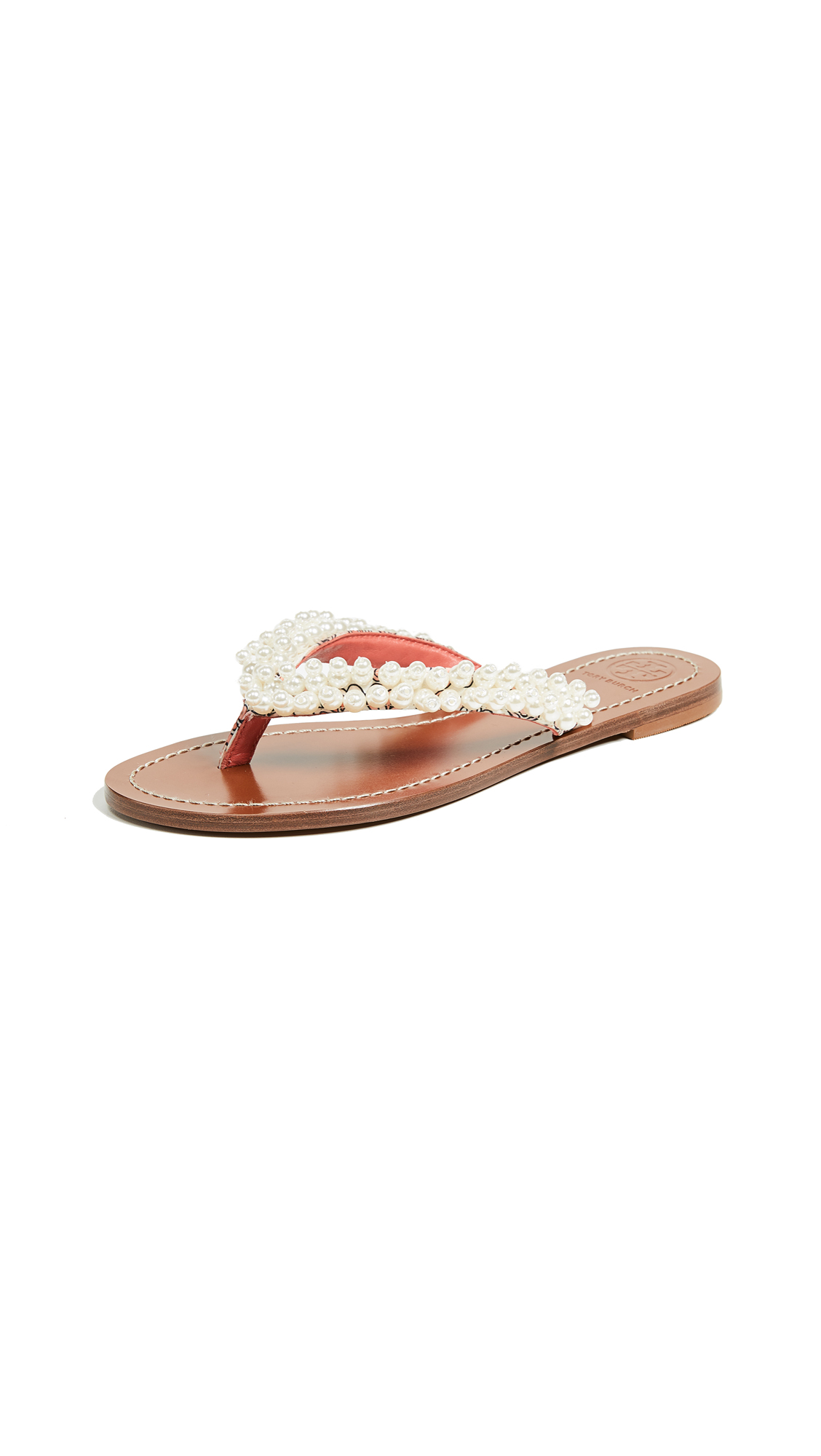 Tory Burch Tatiana Thong Sandals - Hicks Garden/Fresh Melon