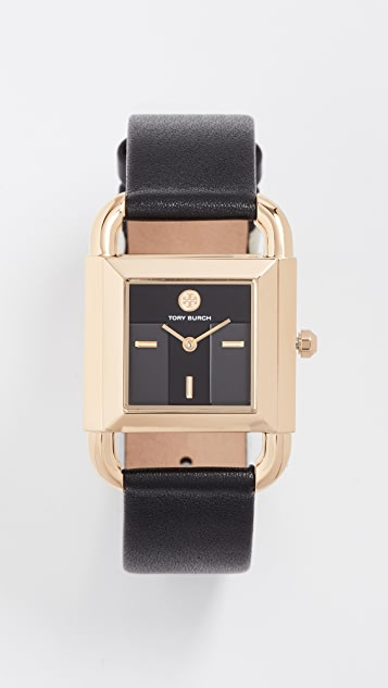 Tory Burch The Phipps Leather Watch, 29mm