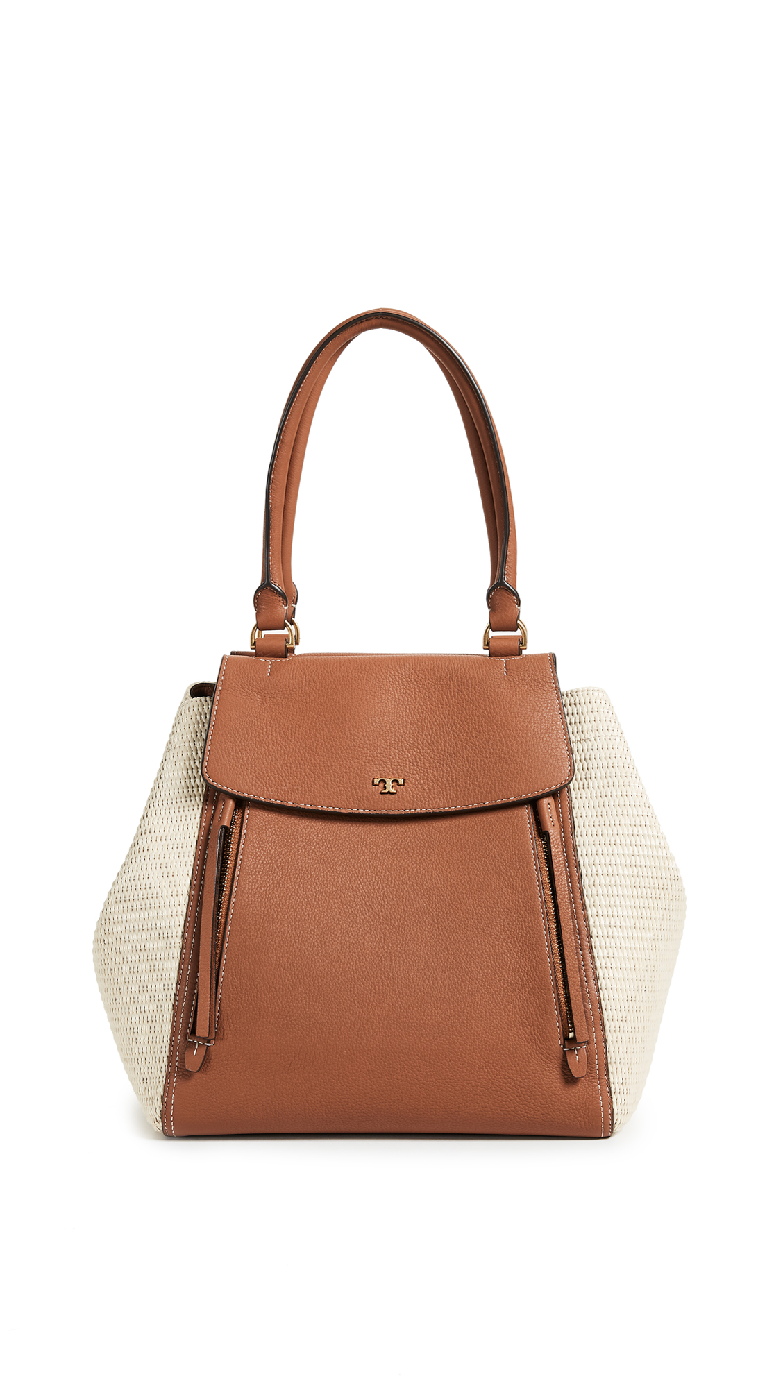 Tory Burch Half Moon Straw Tote