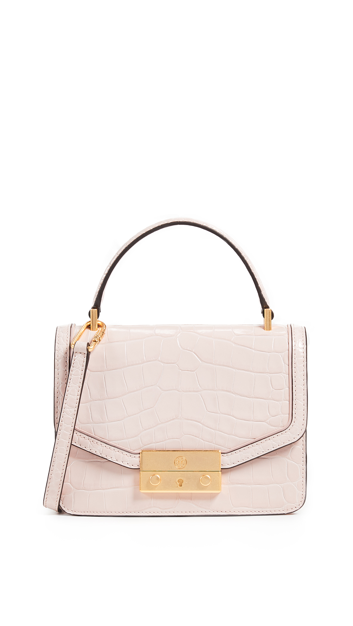 15c2ec169f7 Tory Burch Juliette Embossed Mini Top Handle Satchel In Clay Pink ...
