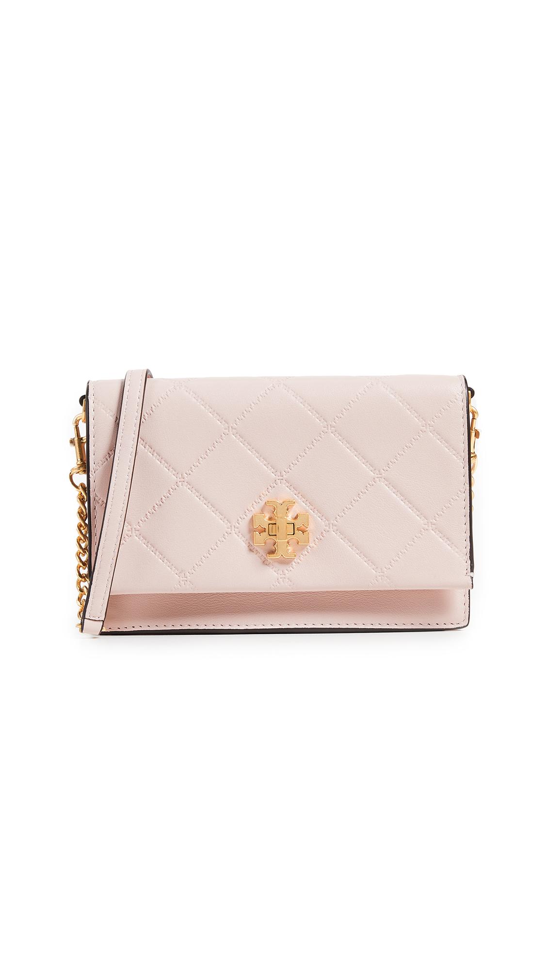 Georgia Turn Lock Mini Bag, Shell Pink