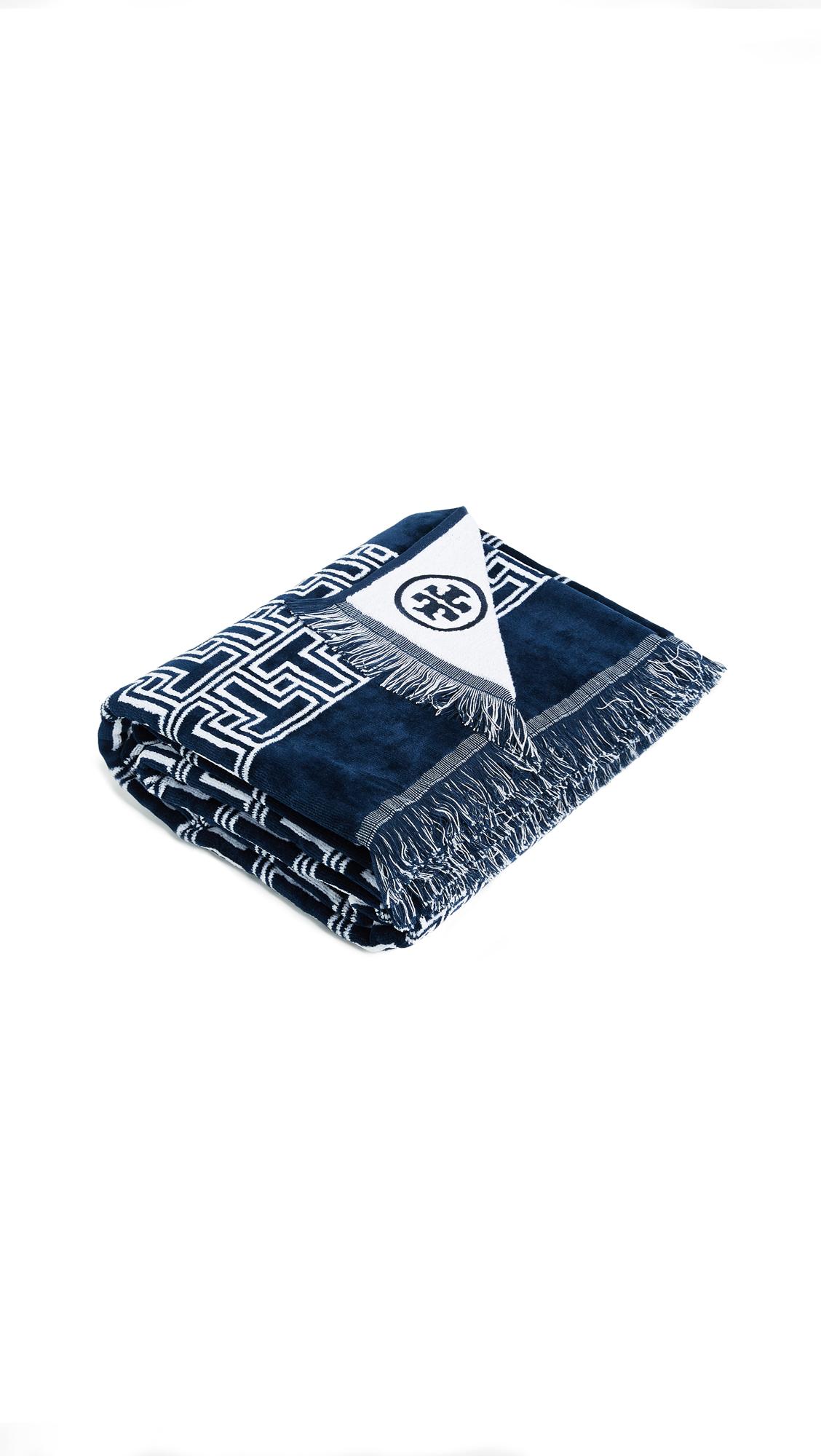 75c9d5fe52aa9 Tory Burch T Tile Beach Towel | SHOPBOP