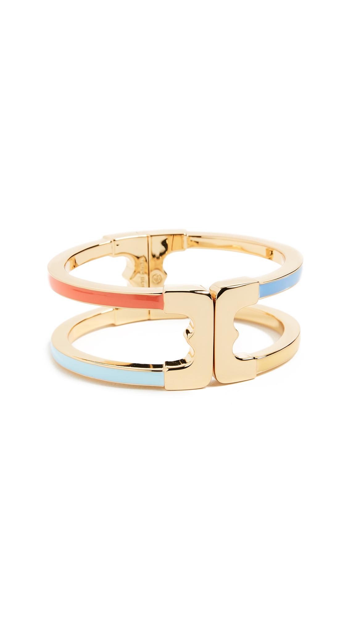 Tory Burch Gemini Link Enamel Hinge Bracelet 2xlQbb