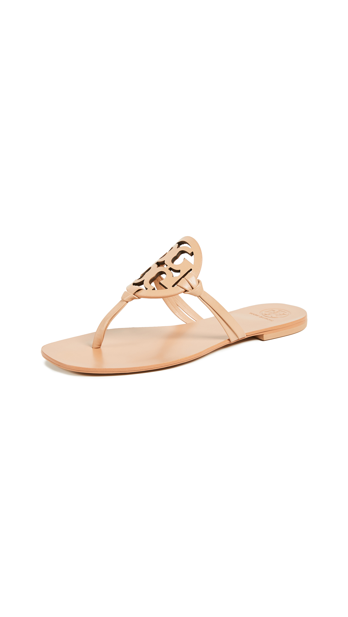 Tory Burch Miller Thong Sandals - Natural Vachetta