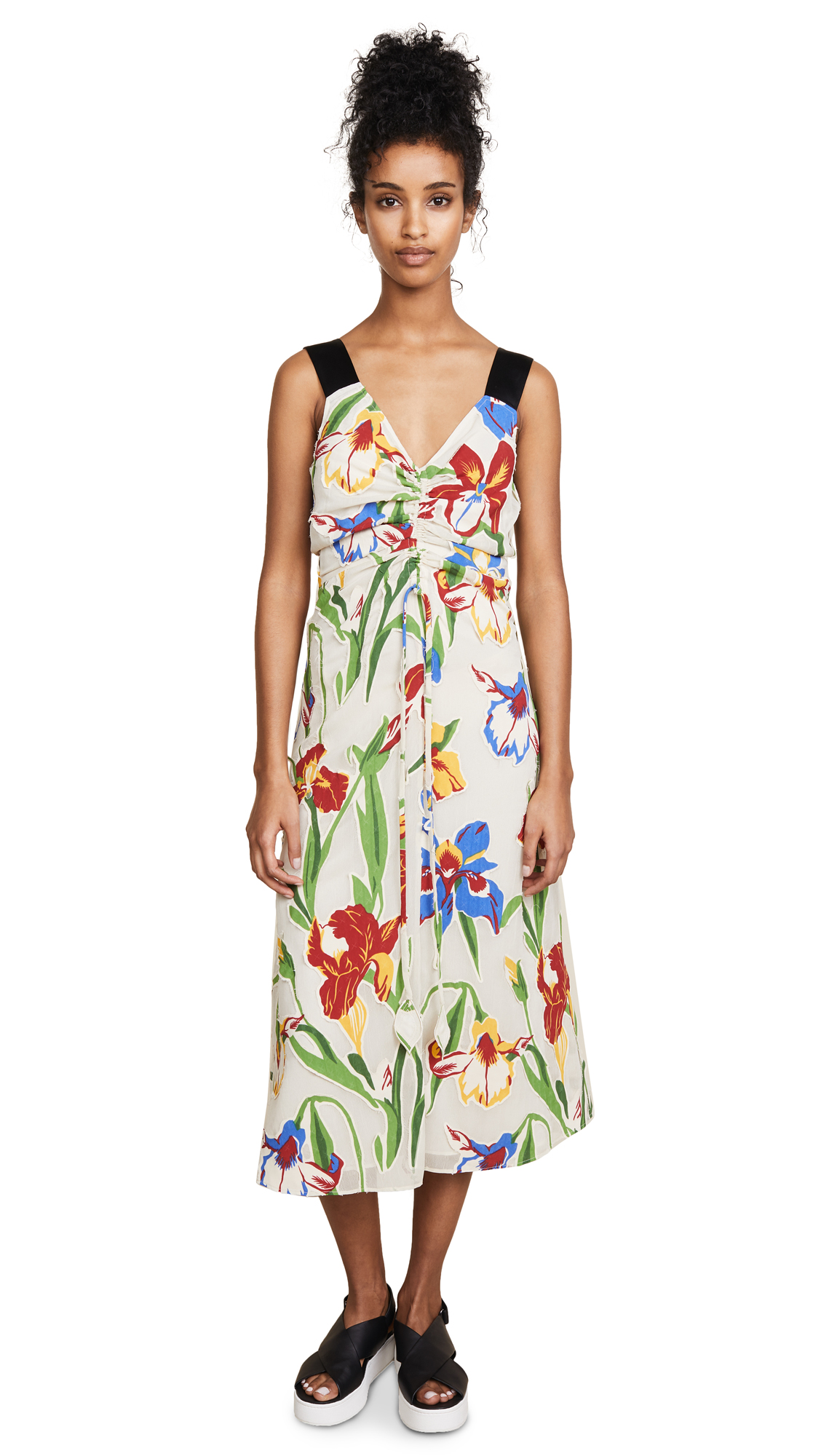Tory Burch Clarissa Dress In Painted Iris