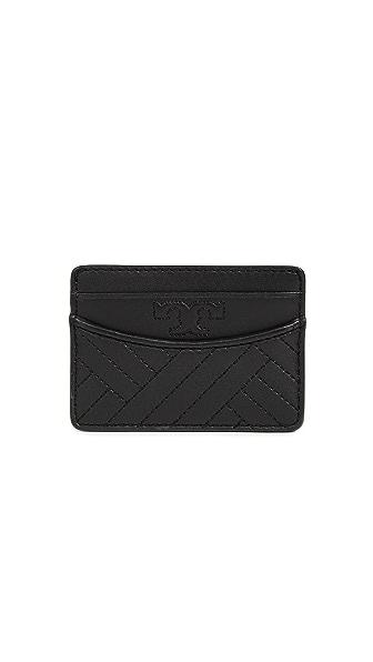 Tory Burch Alexa Slim Card Case In Black