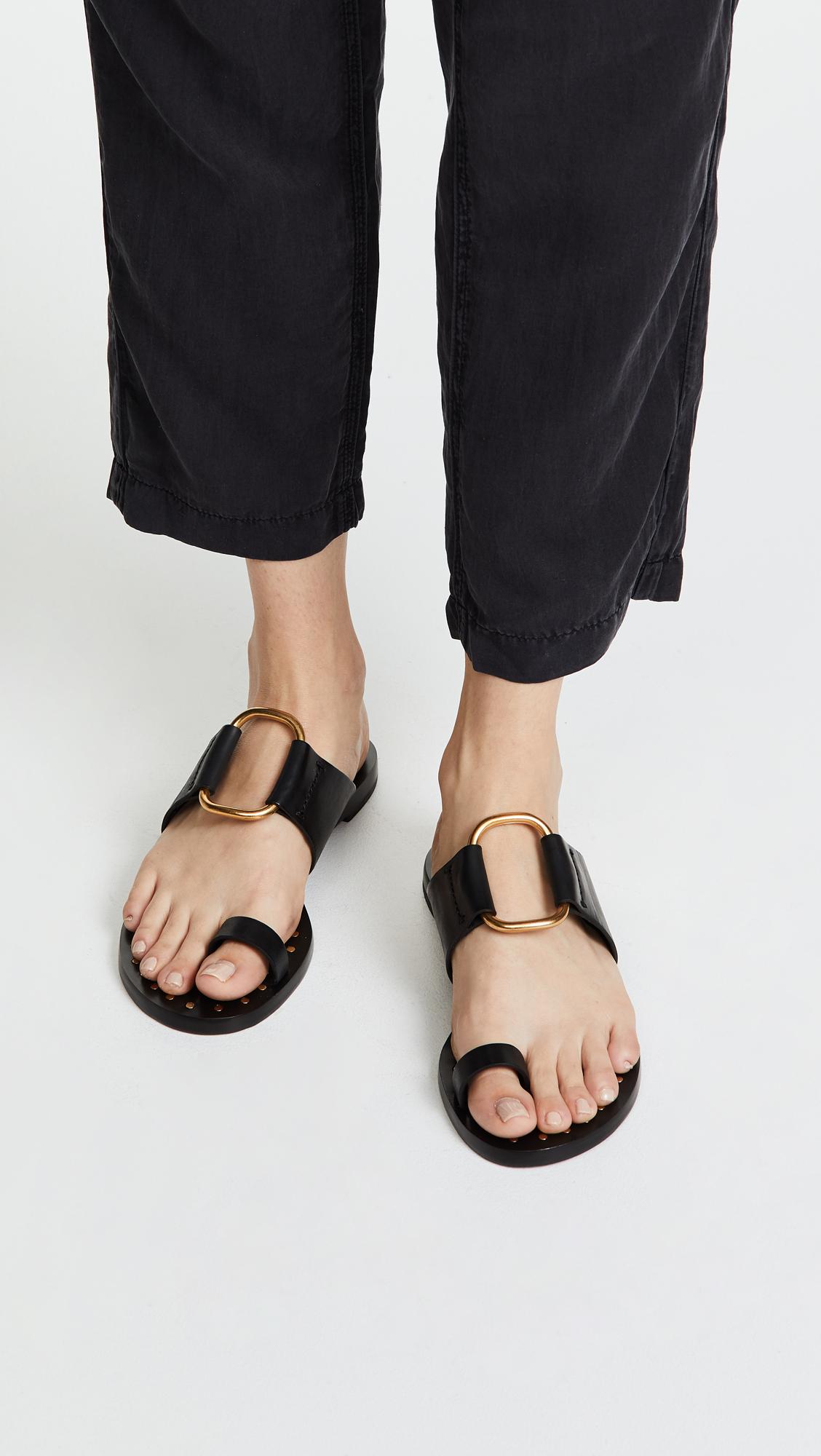b58a919eaad8 Tory Burch Brannan Toe Ring Sandals