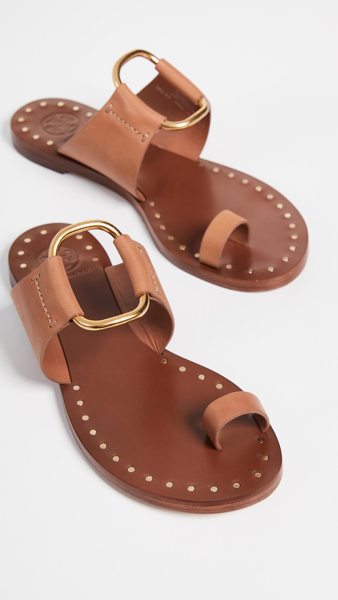 79ba9a21086 Tory Burch Brannan Toe Ring Sandals