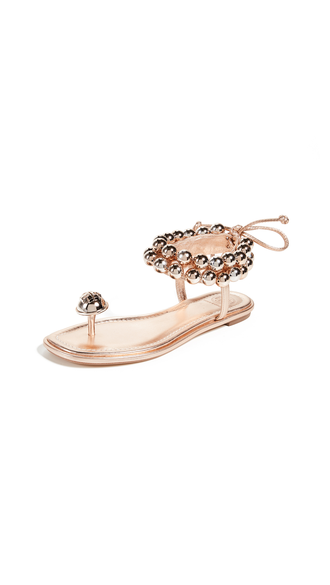 Tory Burch Melody Ankle Strap Sandals - Rose Gold