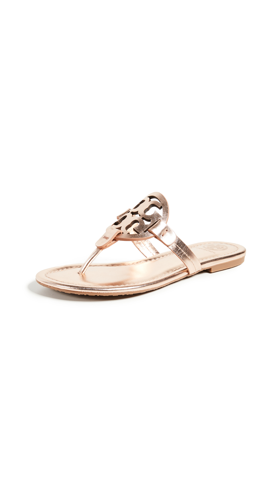 Tory Burch Miller Thong Sandals - Rose Gold
