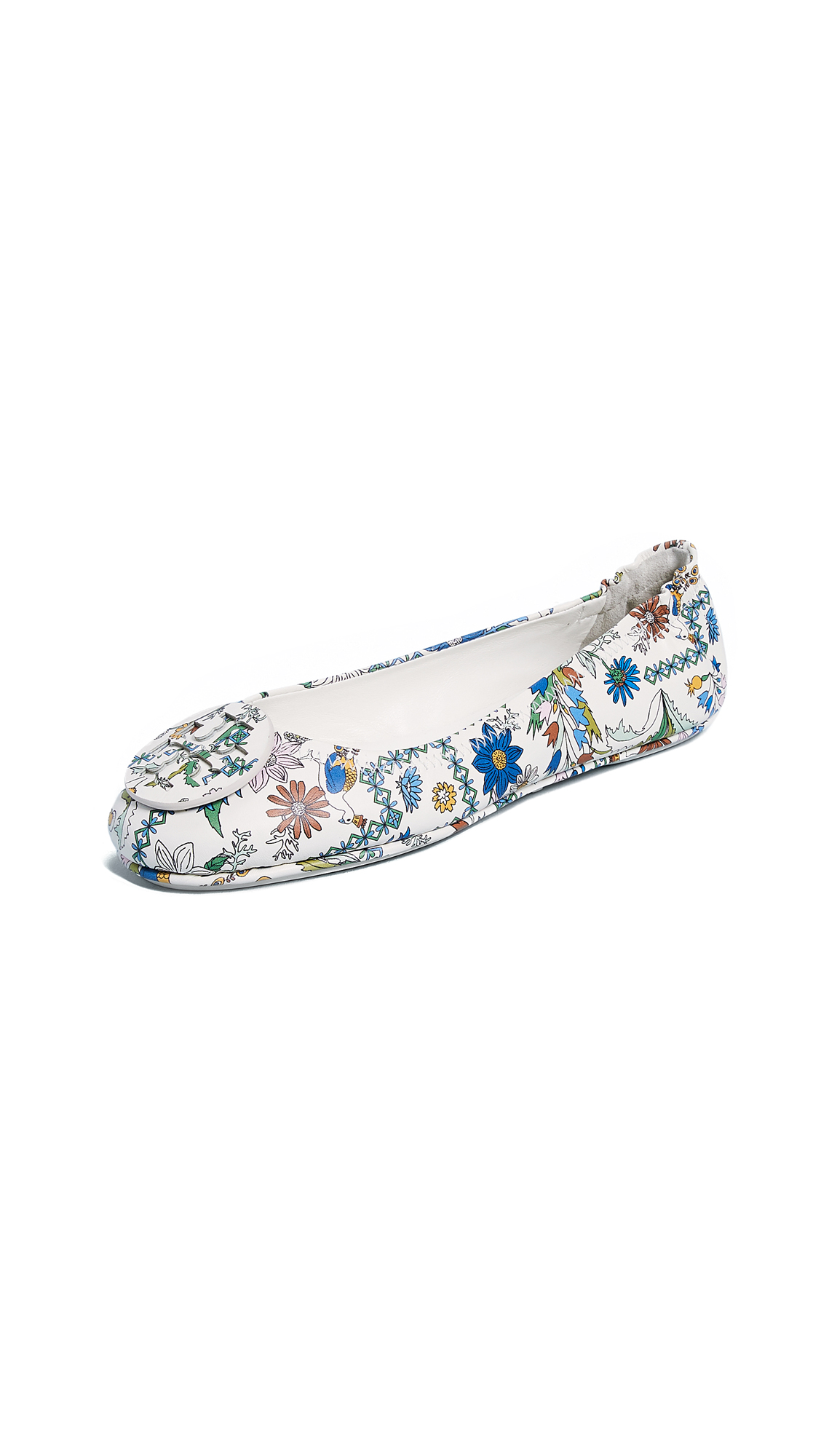 Tory Burch Minnie Travel Ballet Flats - Meadow Sweet