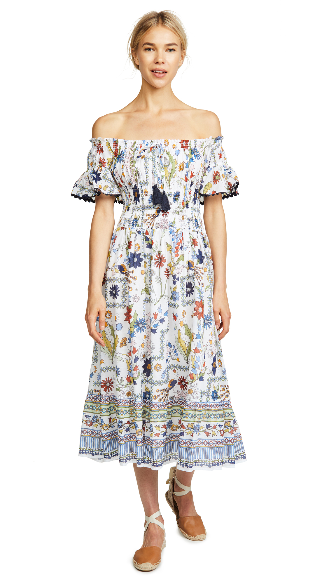 Tory Burch Meadow Folly Dress In Meadow Folly