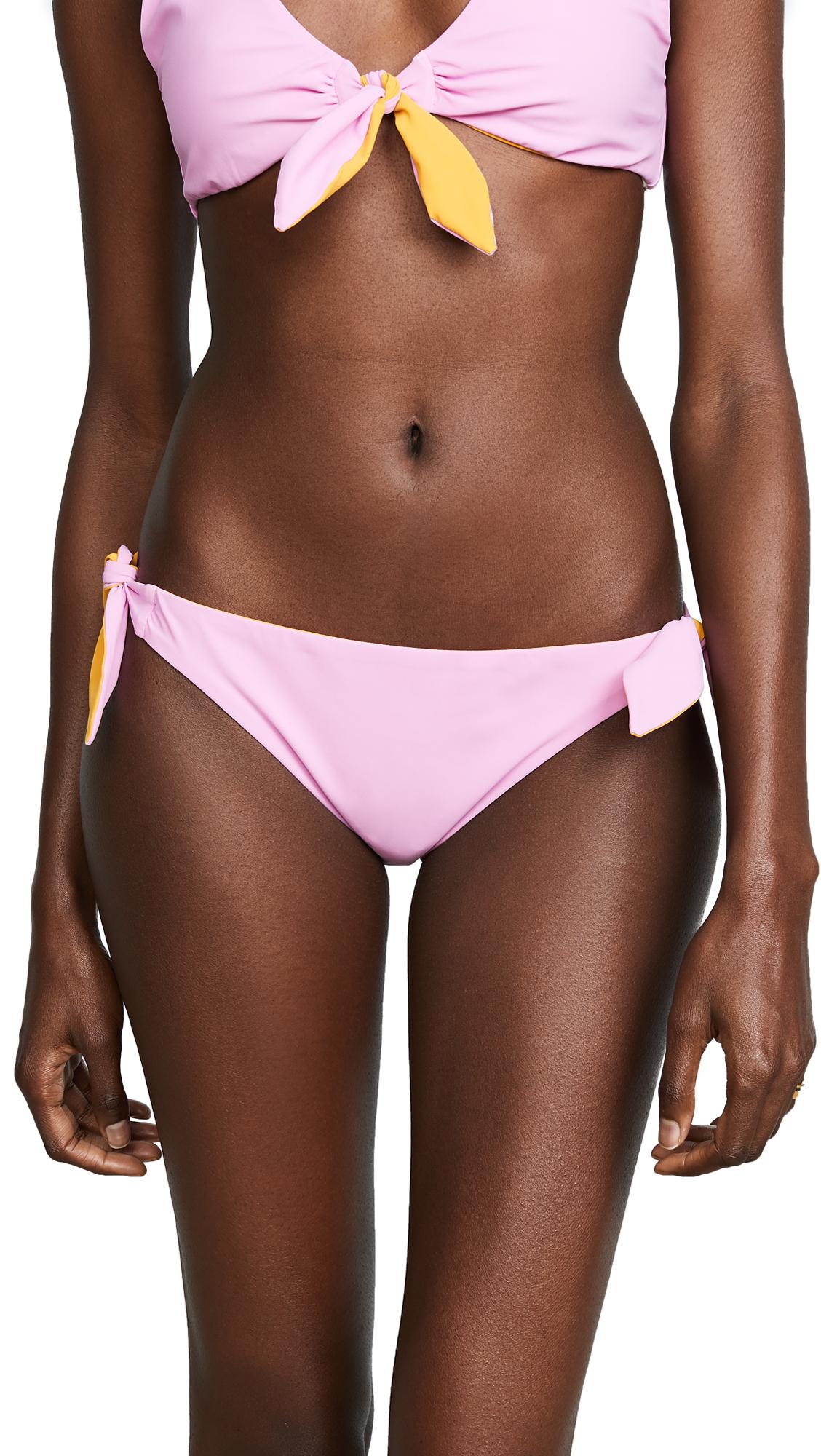 Tory Burch Biarritz Reversible Bikini Bottoms In Pink/Orange