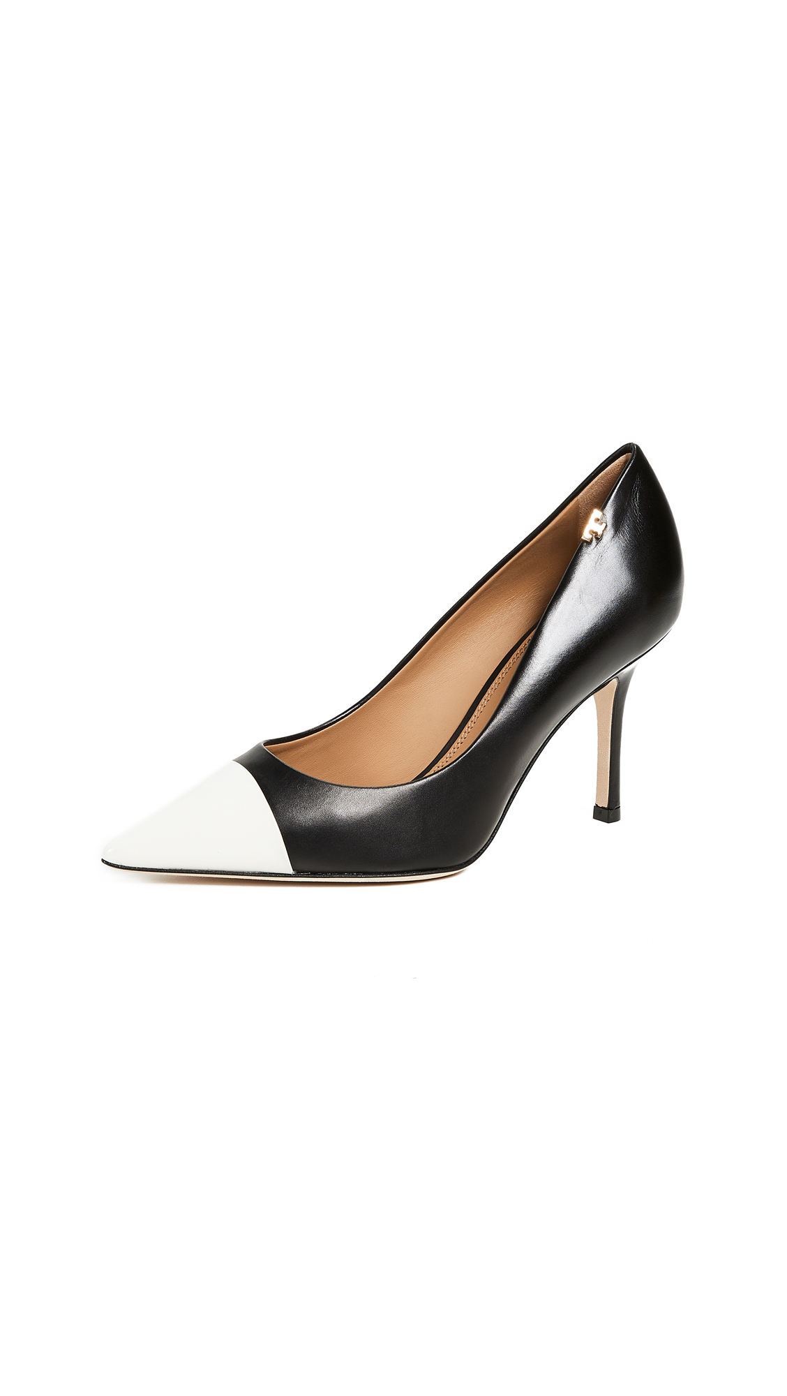Tory Burch Penelope Cap Toe Pumps - Perfect Black/Italian Ivory